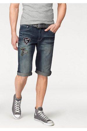 adidas Jeansbermudas mit Markenbadges