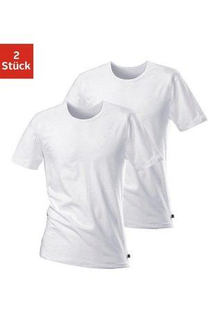 H.I.S T-Shirt (2-tlg) mit Rundhalsausschnitt und kleinem Logo