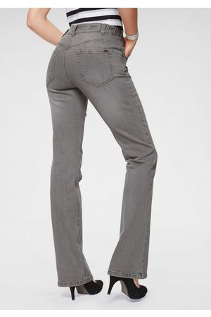 ARIZONA Damen High Waist Jeans - Bootcut-Jeans »Svenja - Bund mit seitlichem Gummizugeinsatz« High Waist