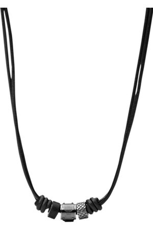 Fossil Kette mit Anhänger »JF00501797«, mit schwarzem Marmor
