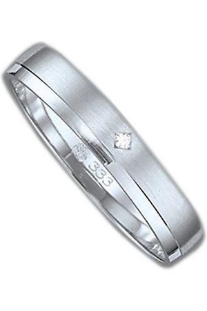 Firetti Trauring mit Gravur »3,5 mm, sandmatt, Diamantschnitt, Weiß «, Made in Germany