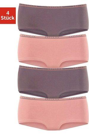 Lascana Damen Hipsters - Panty (4 Stück) mit schmalem Logobündchen
