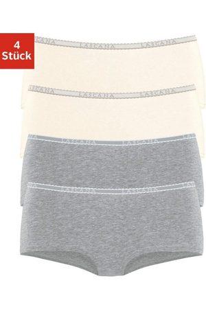 Lascana Panty (4 Stück) mit schmalem Logobündchen