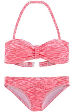 Venice Beach Bandeau-Bikini in Melange-Optik
