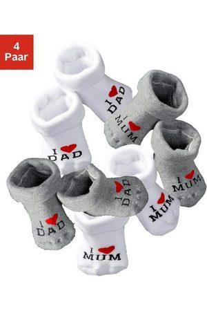 vivance collection Umschlagsocken »I Love Mum, I Love Dad« (4-Paar) mit Umschlagbündchen