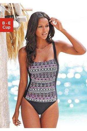 Lascana Damen Shapewear - Badeanzug, mit Muster im Ethno-Stil und Shaping-Effekt