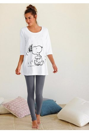 Peanuts Pyjama mit Leggings und legerem Shirt mit Snoopyprint