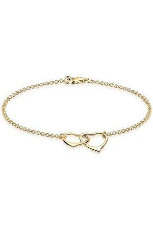 DIAMORE Armband »Herz Anhänger Liebe Diamant (0.015 ct) 925 Silber«
