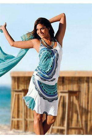 beachtime Strandkleid mit Alloverprint