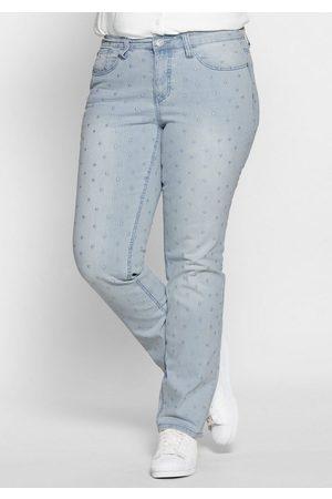 Sheego Stretch-Jeans mit Allover-Stickerei