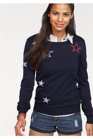 KangaROOS Rundhalspullover mit Sternen-Muster