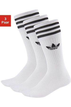 adidas Socken »Crew« (3 Paar) mit klassischem Label und Streifen