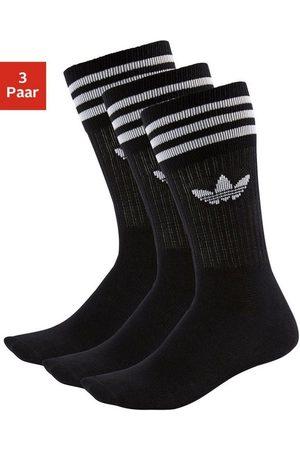 adidas Socken »Crew« (3-Paar) mit klassischem Label und Streifen