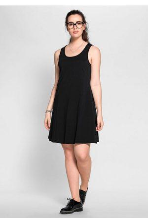 Sheego Jerseykleid mit breiten Trägern