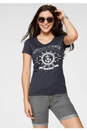 TOM TAILOR T-Shirt mit großem Front-Print
