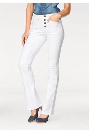 ARIZONA Bootcut-Jeans »mit sichtbarer Knopfleiste« High Waist