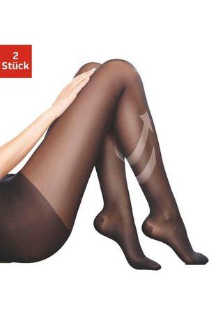 Disee Damen Strumpfhosen - Stützstrumpfhose 70 DEN (Packung 2 Stück) mit verstärktem Höschenteil