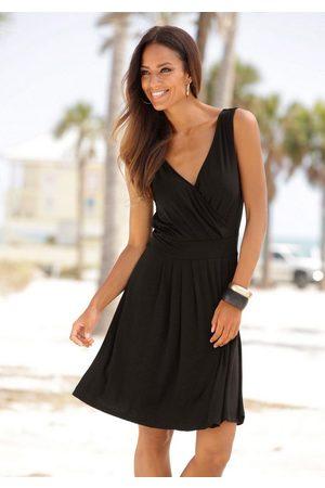 beachtime Jerseykleid mit tiefem V-Ausschnitt