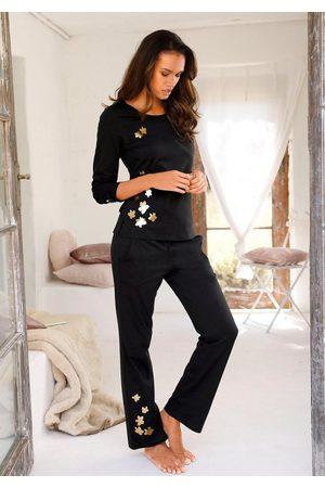 ARIZONA Pyjama mit glänzendem Blumenprint