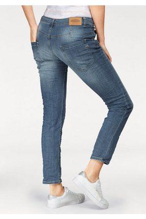Please Boyfriend-Jeans »P85A« lässige Jeans Hose mit Crinkle-Effekt und krempelbarem Bein