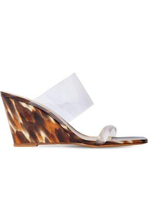 MARYAM NASSIR ZADEH Damen Keilabsätze - 100mm Pvc Wedge Sandals
