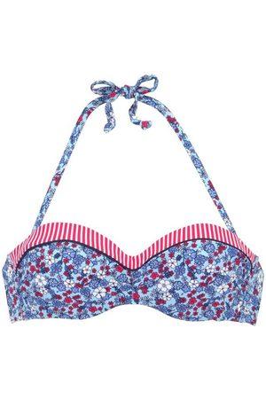 s.Oliver Damen Bikinis - Bandeau-Bikini-Top »Jill«, mit Mustermix