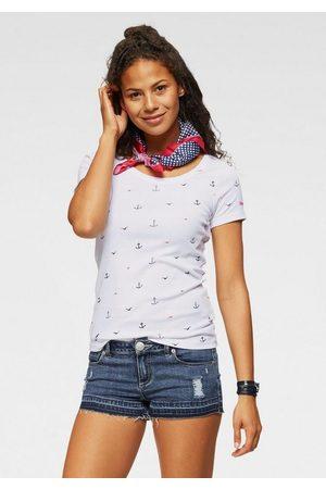 KangaROOS T-Shirt mit Anker, Schiffchen oder Reh-Print