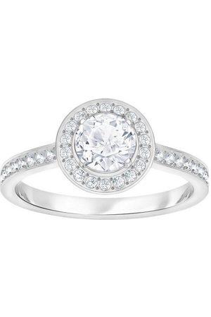 Swarovski Fingerring »Attract Light Round, weiss, rhodiniert, 5412024, 5409189, 5368545, 5409187, 5412053«, mit ® Kristallen