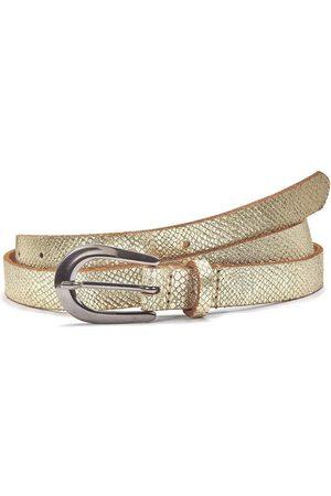 Lascana Gürtel - Ledergürtel, Hüftgürtel in Metallic-Snake-Optik