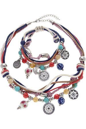 Lascana Schmuckset, Kette und Armband mit vielen kleinen Anhängern