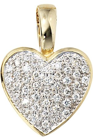 Jobo Herzanhänger »Herz«, 585 mit 42 Diamanten
