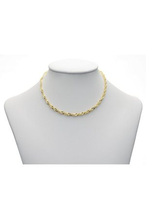 Adelia's Damen Halsketten - Goldkette »333 Singapur Halskette 50 cm«, Singapur Kette Goldschmuck für Damen