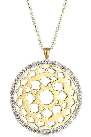 Nenalina Kette mit Anhänger »Kronen Chakra Swarovski® Kristalle 925 Silber«