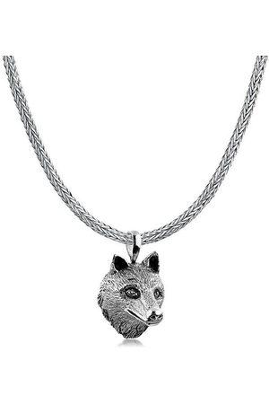 Kuzzoi Kette mit Anhänger »Herren Schlangenkette Wolfs Anhänger 925 «