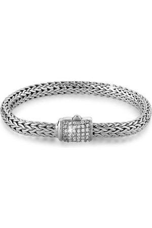 Kuzzoi Armband »Gliederarmband Damen Zirkonia Kristalle 925 «