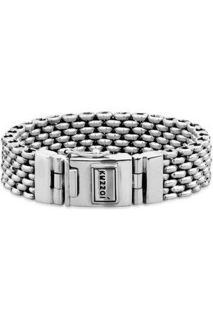 Kuzzoi Armband »Herren Breit Massiv Kastenverschluss 925 Silber«