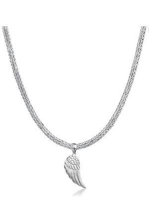 Kuzzoi Silberkette »Mann Schlangenkette Flügel Anhänger 925 «