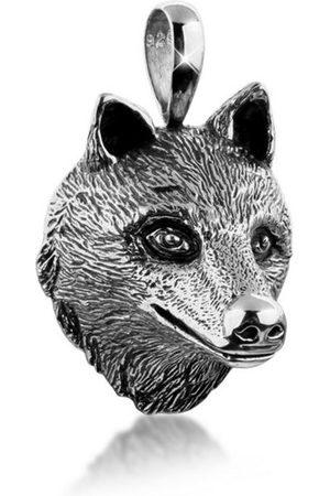Kuzzoi Kettenanhänger »Herren Wolfkopf Kettenanhänger Robust 925 «