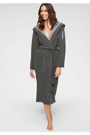 KangaROOS Damenbademantel »Dalia«, , außen Unifarben und innen mit Streifen