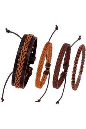 J. Jayz Armband Set »kann auch einzeln getragen werden« (Set, 4-tlg), mit Holzperlen