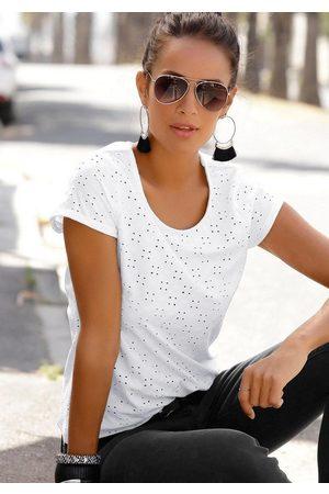 Lascana Strandshirt mit Lochstickerei