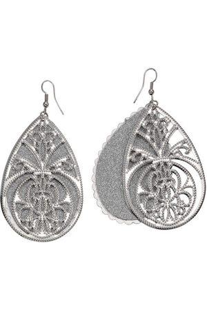 J. Jayz Paar Ohrhaken »Tropfen mit Ornamente«