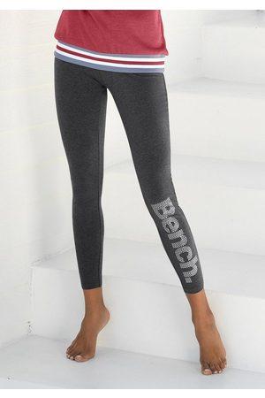 Bench Leggings mit Logodruck in Metalloptik