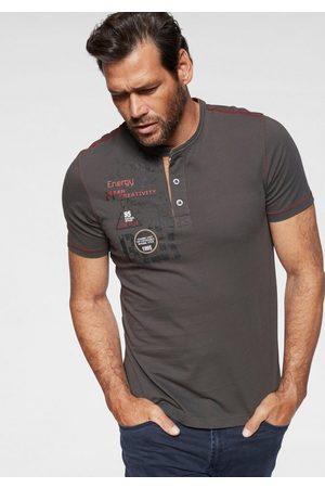 Man's World Henleyshirt mit kontrastfarbenen Nähten