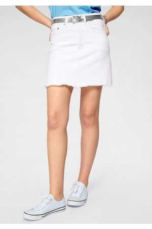 Levi's Jeansrock »High Rise Iconic Skirt« Jeansrock mit Fransen und hoher Taille