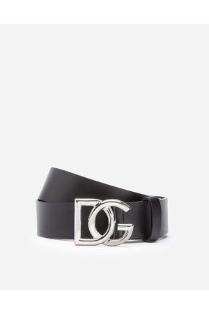 Dolce & Gabbana LedergÜrtel mit gekreuztem dg-logo