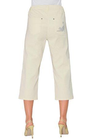 Classic Basics Capri-Jeans mit seitlichem Dehnbund