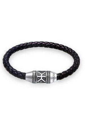 Kuzzoi Armband »Herren Leder Logo Magnet-Verschluß 925 «
