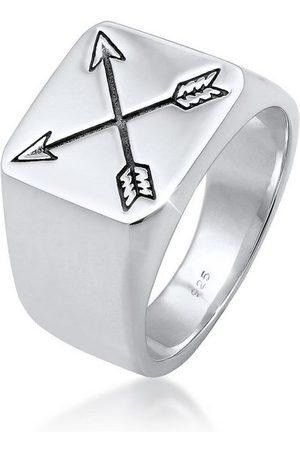 Kuzzoi Silberring »Herren Siegelring Matt Basic Pfeil 925er «