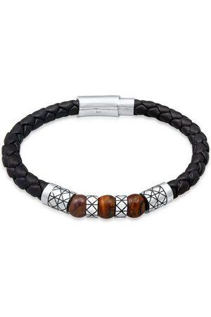 Kuzzoi Armband »Herren Leder Bead Magnet-Verschluß 925er «